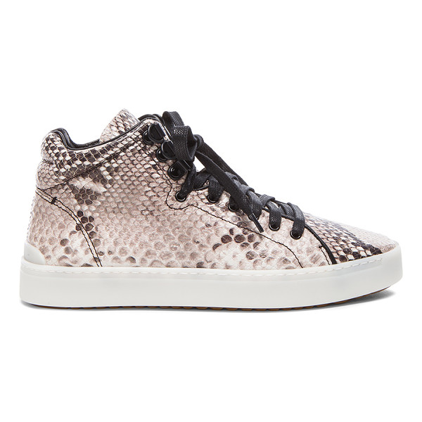 RAG & BONE Kent high top leather sneakers - Snakeskin embossed leather upper with rubber sole.  Made in...