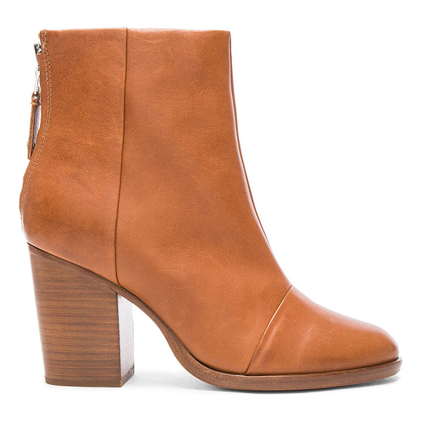 RAG & BONE Leather Ashby Ankle High Boots - Leather upper and sole. Made in Italy. Shaft measures...