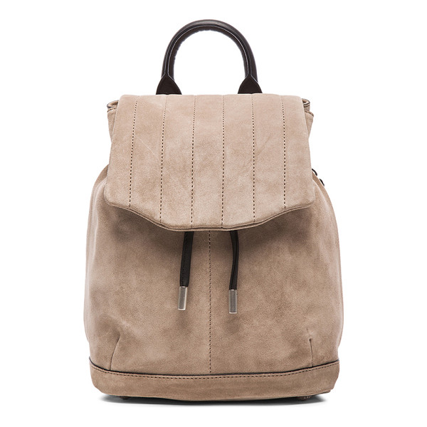 RAG & BONE Mini pilot backpack - Suede with grosgrain lining and silver-tone hardware.  Made...