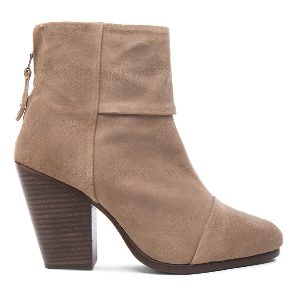RAG & BONE Newbury suede boots - Wax coated suede upper with leather sole.  Made in China. ...