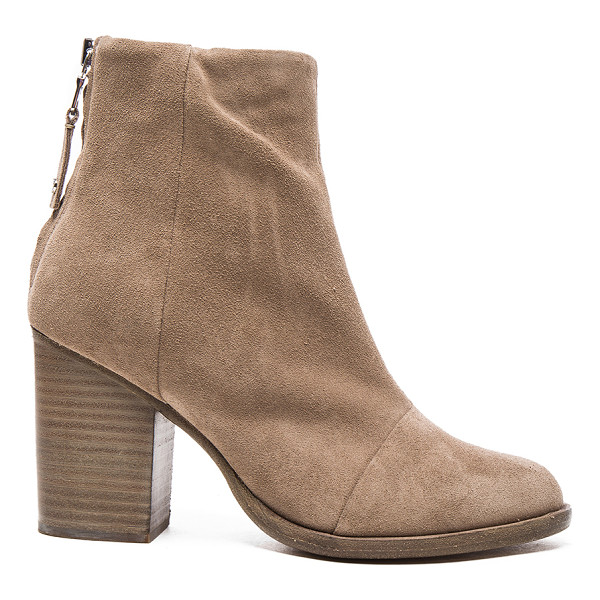 RAG & BONE Suede Ashby Booties - Suede upper with leather sole. Made in Italy. Approx 90mm/...