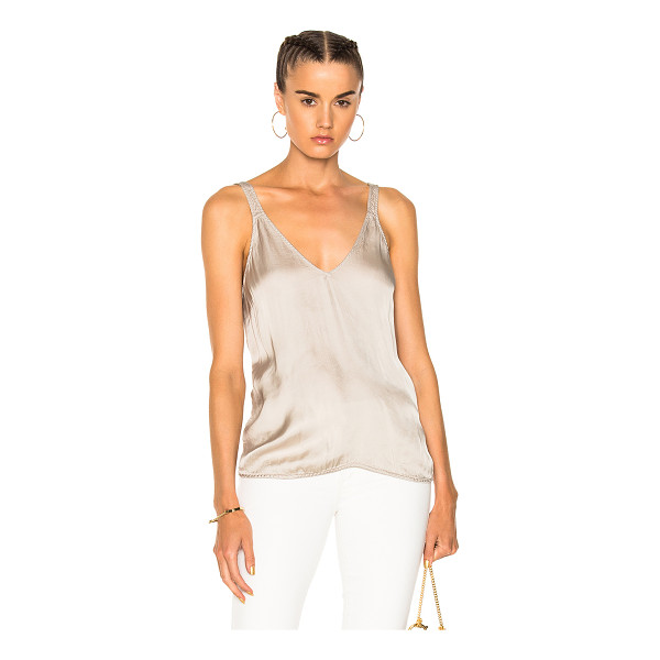 RAQUEL ALLEGRA Camisole Top - 54% viscose 46% cotton.  Made in USA.  Dry clean only. ...