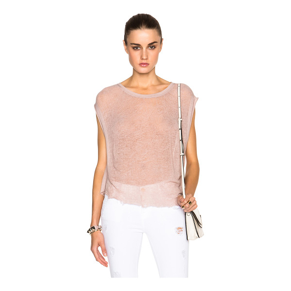 RAQUEL ALLEGRA Homage top - 50% cotton 50% poly.  Made in USA.  Deconstructed fabric. ...