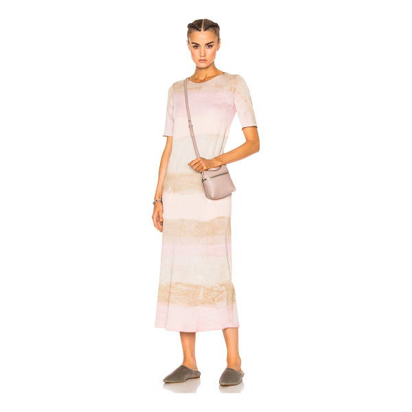 RAQUEL ALLEGRA Short Sleeve Maxi Dress - 50% cotton 50% poly.  Made in USA.  Hand wash.  Unlined. ...