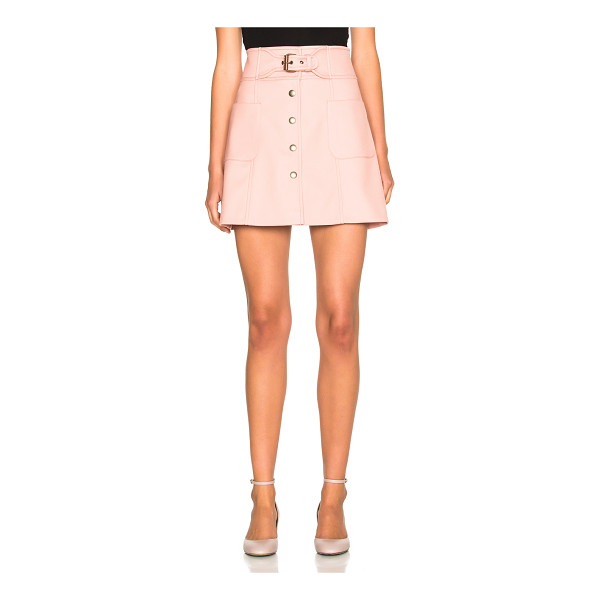 RED VALENTINO Belted Mini Skirt - 72% poly 26% viscose 2% elastan.  Made in Hungary.  Dry...