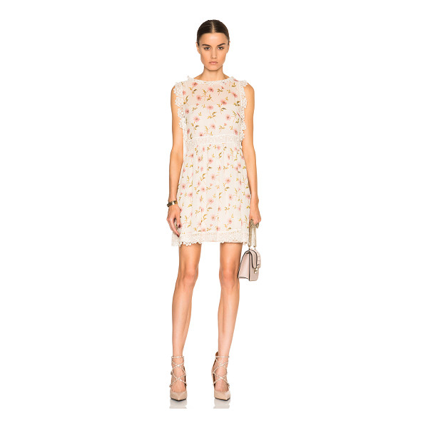 RED VALENTINO Floral Mini Dress - 100% silk.  Made in Hungary.  Fully lined.  Sheer fabric. ...