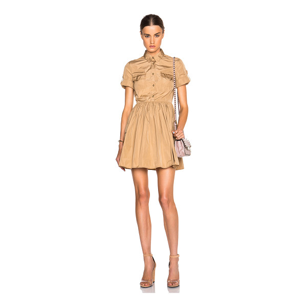 RED VALENTINO Military pocket dress - 100% poly.  Made in Italy.  Unlined.  Button front...