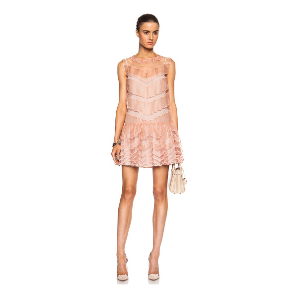 RED VALENTINO Scalloped silk tulle dress - Self: 100% silk - Contrast Fabric & Lining: 100% poly. ...