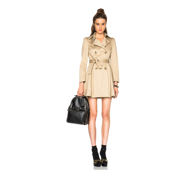 RED VALENTINO Trench coat - Self : 100% cotton - Lining & Contrast Fabric: 100% poly. ...