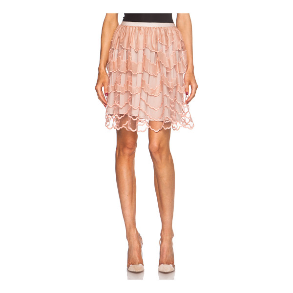 RED VALENTINO Tulle poly skirt - Self & Lining: 100% poly - Contrast Fabric: 100% silk -...