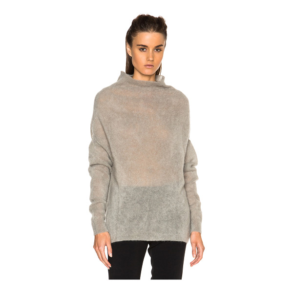 RICK OWENS Crater fuzzy knit sweater - 58% mohair 10% wool.  Made in Italy.  Knit fabric.  Draped...
