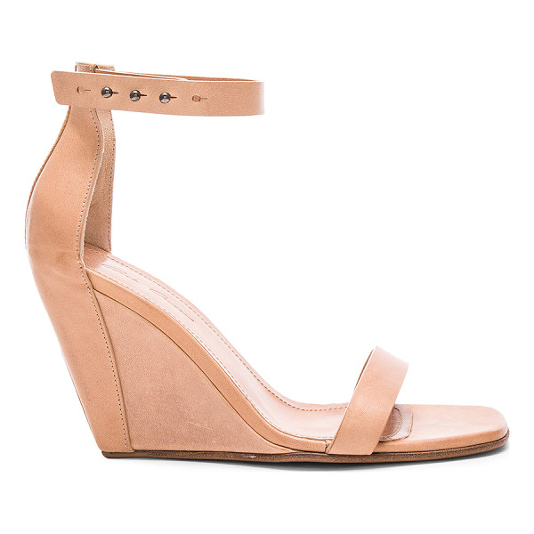 RICK OWENS Strappy Leather Wedges - Leather upper and sole.  Made in Italy.  Approx 100mm/ 4...