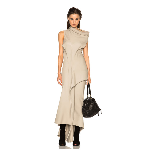 RICK OWENS Vincente bias tied dress - 98% viscose 2% elastan.  Made in Italy.  Unlined.  Draped...