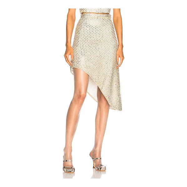 RODARTE Beaded Asymmetric Hem Skirt - Self: 100% nylon - Lining: 100% silk.  Made in USA.  Dry...