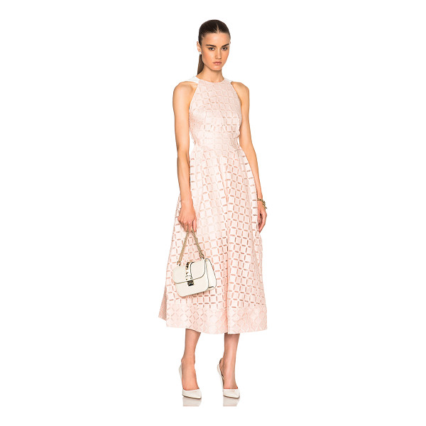 ROLAND MOURET Baldry dress - Self: 68% cotton 14% silk 11% viscose 6% acetate 1% elastan...