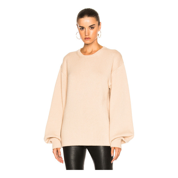 RYAN ROCHE Big Long Sleeve Sweater - 100% cashmere. Made in Italy. Dry clean only. Knit fabric....