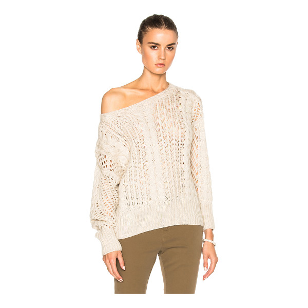 RYAN ROCHE Fisherman Crop Sweater - 100% cashmere.  Made in Nepal.  Dry clean only.  Knit...