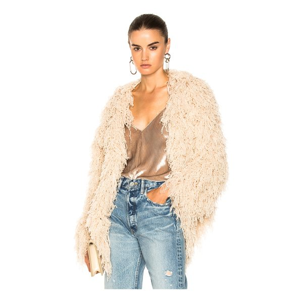 RYAN ROCHE Furry Cardigan - 100% cashmere. Made in Nepal. Dry clean only. Knit fabric....