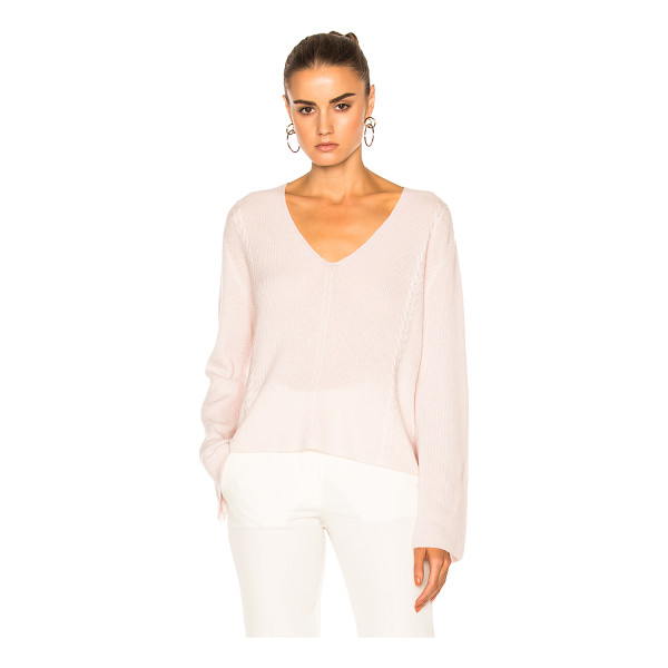 RYAN ROCHE for FWRD V Neck Knit Sweater - 100% cashmere. Made in Nepal. Dry clean only. Knit fabric....