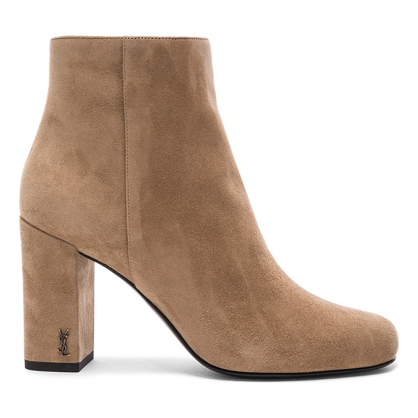 SAINT LAURENT Babies Pin Boot - Suede upper with leather sole.  Made in Italy.  Approx...