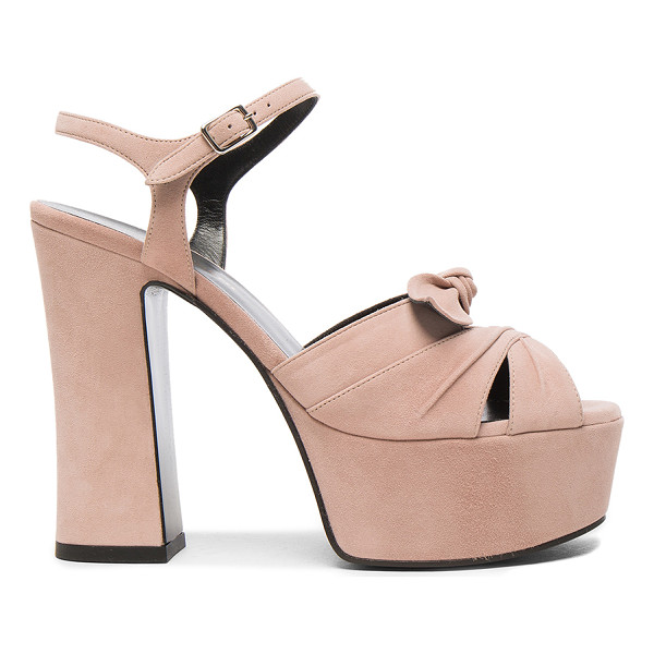 SAINT LAURENT Candy Suede Platforms - Suede upper with leather sole.  Made in Italy.  Approx