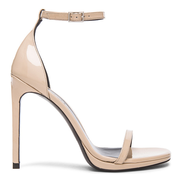 SAINT LAURENT Patent Leather Jane Sandals - Patent leather upper with leather sole.  Made in Italy.