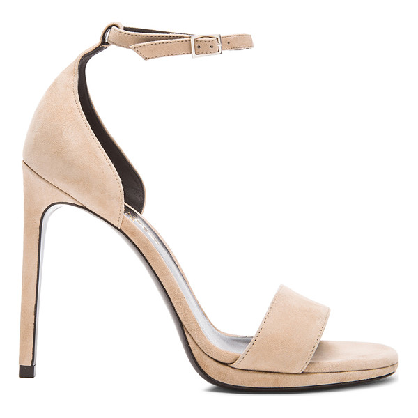 SAINT LAURENT Jane suede sandals - Suede upper with leather sole.  Made in Italy.  Approx...