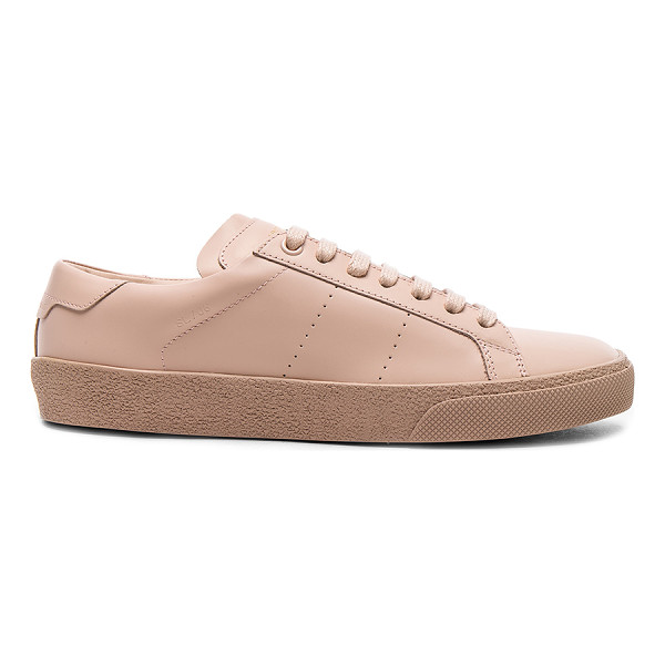 SAINT LAURENT Leather Court Classic Sneakers - Leather upper with rubber sole.  Made in Italy.  Padded...