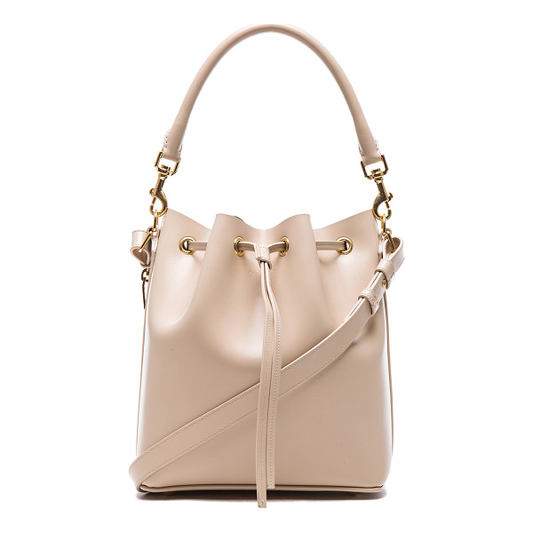 SAINT LAURENT Medium emmanuelle bucket bag - Genuine leather with leather lining and gold-tone hardware....