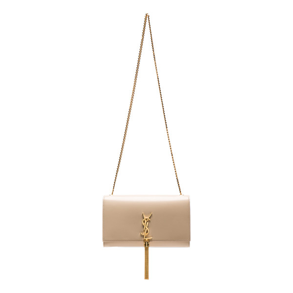 SAINT LAURENT Medium Kate Chain Bag with Tassel - Calfskin leather with suede lining and gold-tone hardware.