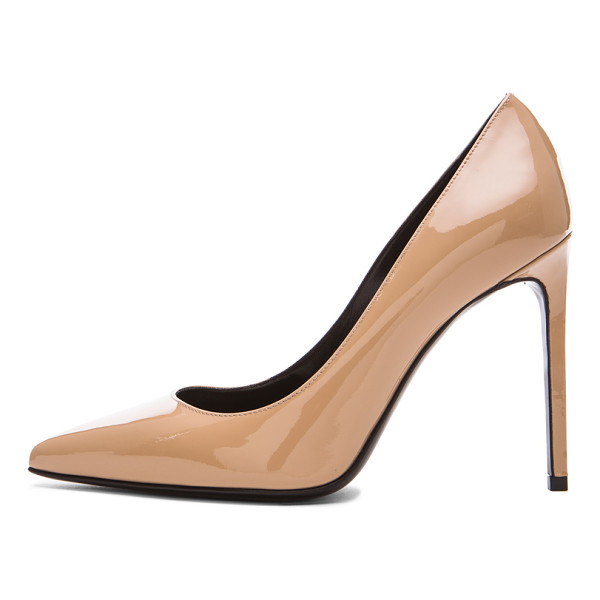 SAINT LAURENT Patent leather paris skinny pumps - Patent leather upper with leather sole.  Made in Italy. ...