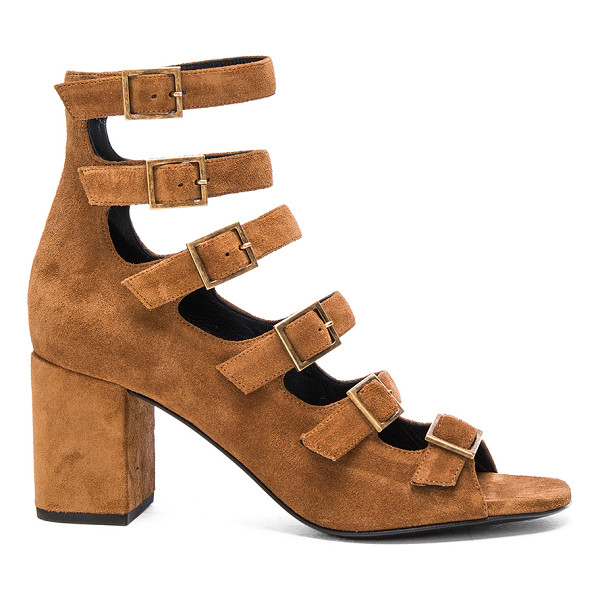 Saint Laurent Suede Babies Buckle Sandals Nudevotion Com
