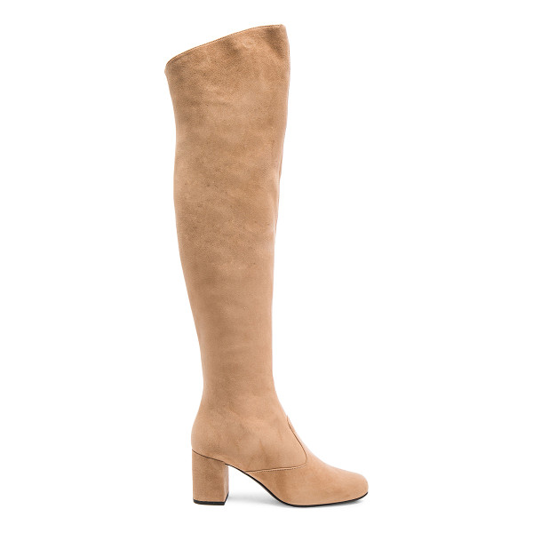 SAINT LAURENT Suede BB Thigh High Boots - Suede upper with leather sole.  Made in Italy.  Shaft