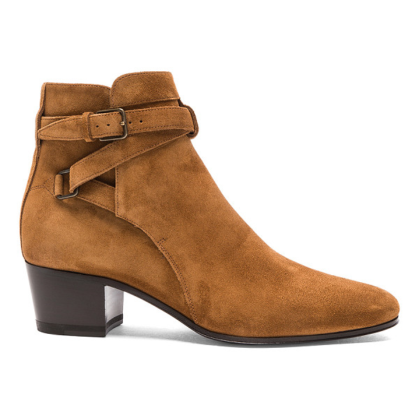 SAINT LAURENT Suede Blake Boots - Suede upper with leather sole.  Made in Italy.  Approx