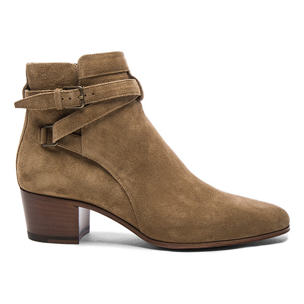 SAINT LAURENT Suede Blake Boots - Suede upper with leather sole.  Made in Italy.  Approx...