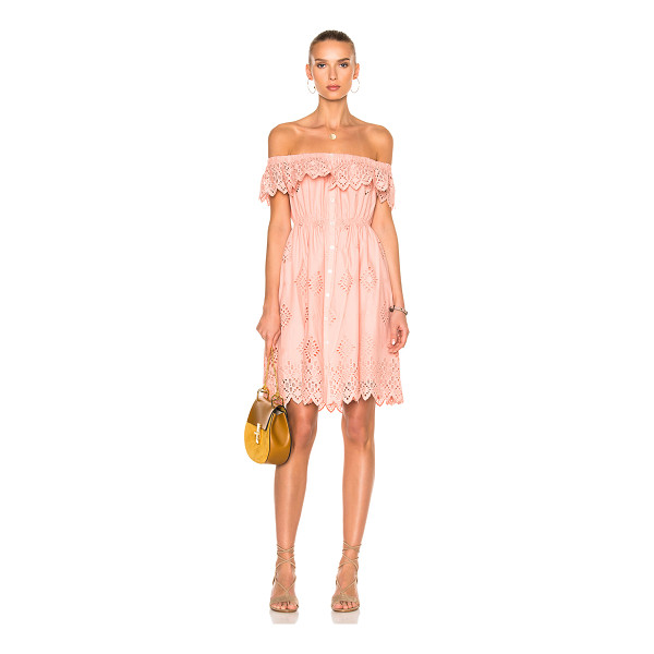 SEA Daniella Ruffle Dress - Self & Lining: 100% cotton. Made in China. Dry clean only....