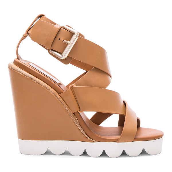 SEE BY CHLOE Leather Tiny Wedges - Leather upper with rubber sole.  Made in China.  Approx...