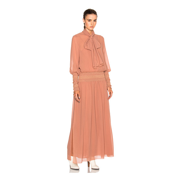 SEE BY CHLOE Long Sleeve Maxi Dress - Self: 100% polyLining: 100% cotton. Made in Portugal. Dry...