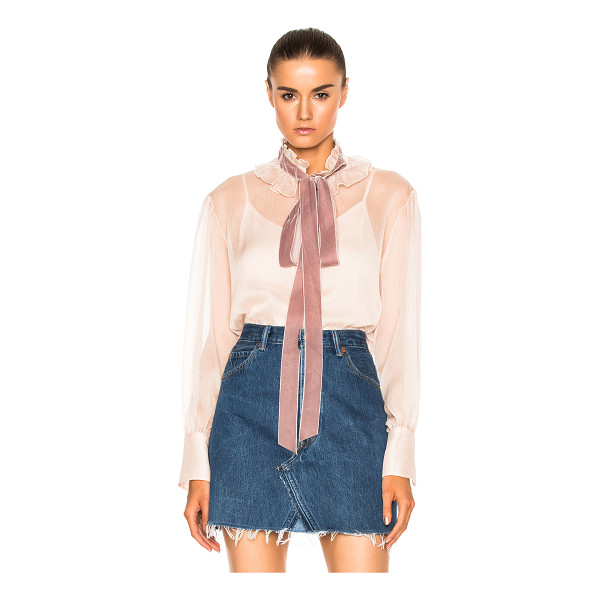 SEE BY CHLOE Tie Neck Blouse - Self: 100% polyCollar Trim: 100% polyamide. Made in...