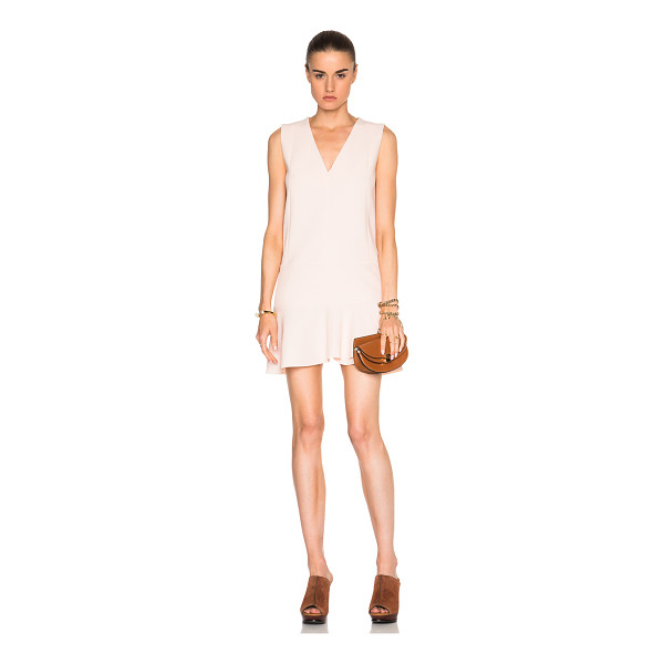 SEE BY CHLOE V-Neck Mini Dress - Self: 98% poly 2% elastan - Lining: 100% viscose.  Made in...