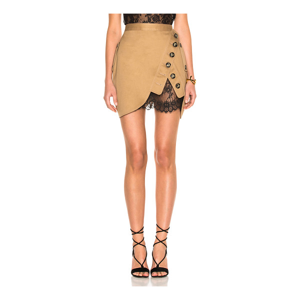 SELF-PORTRAIT Trench Mini Skirt - Self: 100% cottonContrast Fabric: 100% polyamide. Made in...