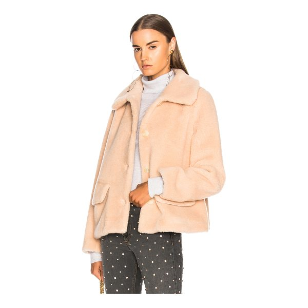 SHRIMPS Clyde Faux Fur Coat - Faux Fur: 45% wool 35% acrylic 20% poly - Lining: 65%...