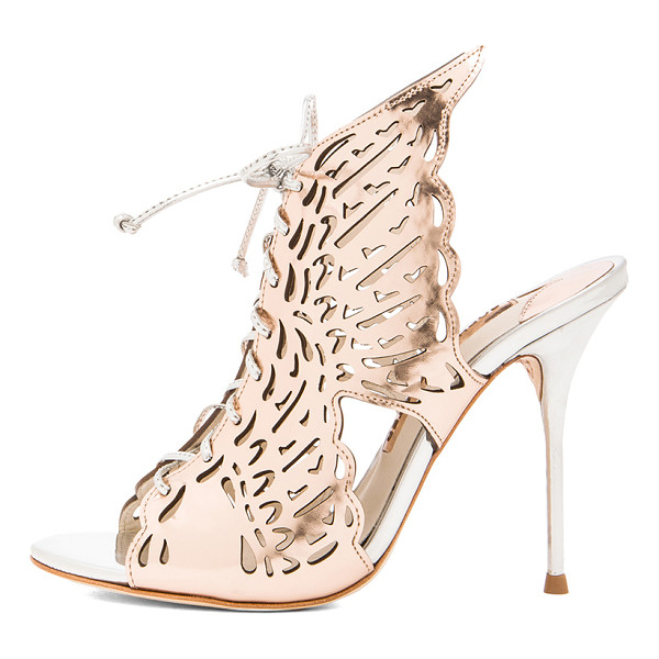 SOPHIA WEBSTER Cherub leather heels - Distressed metallic upper with leather sole.  Made in...