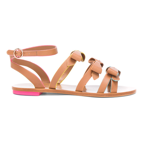 SOPHIA WEBSTER Leather Samara Flat Sandals - Leather upper and sole. Made in Brazil. Approx 10mm/ 0.5