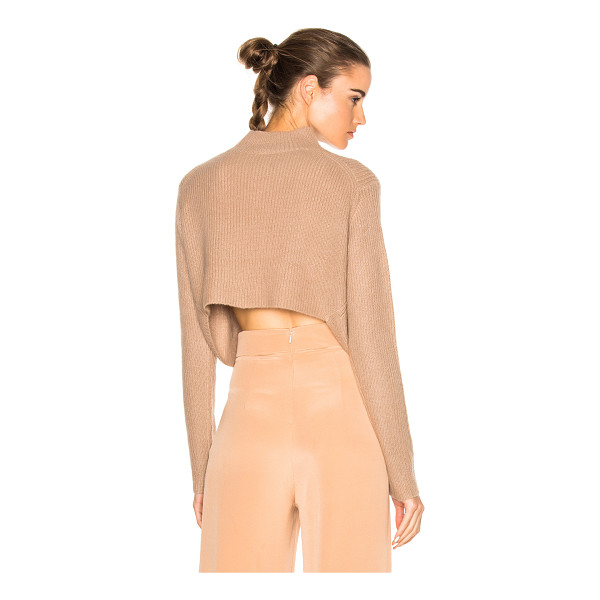 SOYER Crop Sweater - 100% cashmere.  Made in China.  Dry clean only.  Rib knit...