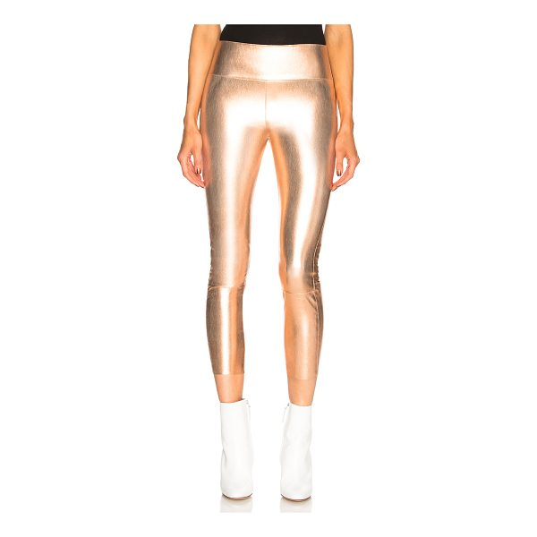 SPRWMN High Waist Capri Leather Legging - Self: 100% stretch leather - Contrast Fabric: 97% lycra 3%...