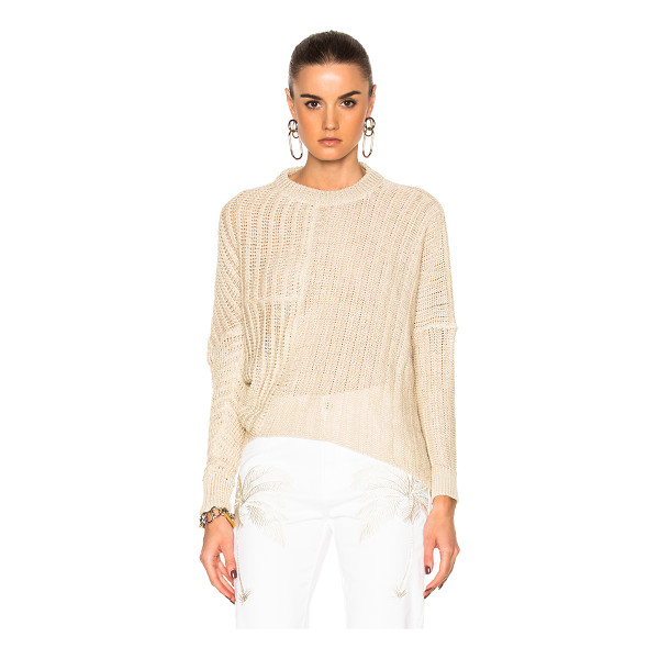 STELLA MCCARTNEY Chunky Stitch Sweater - 100% linen. Made in Italy. Dry clean only. Knit fabric. Rib...