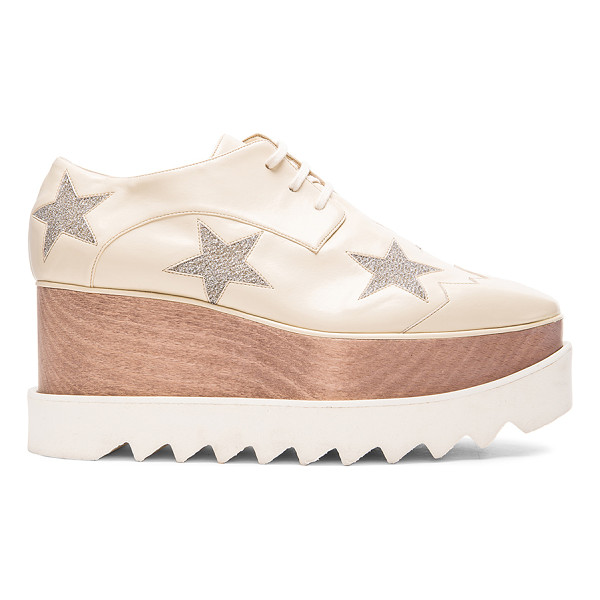 STELLA MCCARTNEY Elyse Star Platform Shoes - Faux leather upper with bio-degradable sole. Made in Italy....