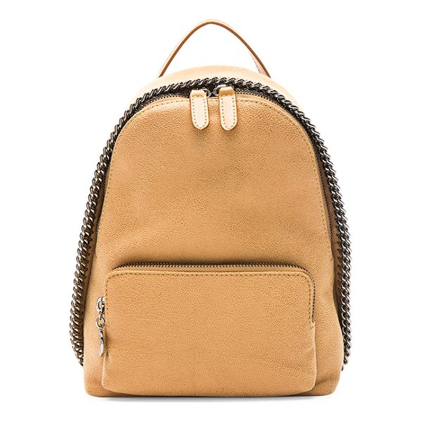STELLA MCCARTNEY Falabella Mini Backpack - Shaggy deer fabric with signature jacquard fabric lining...