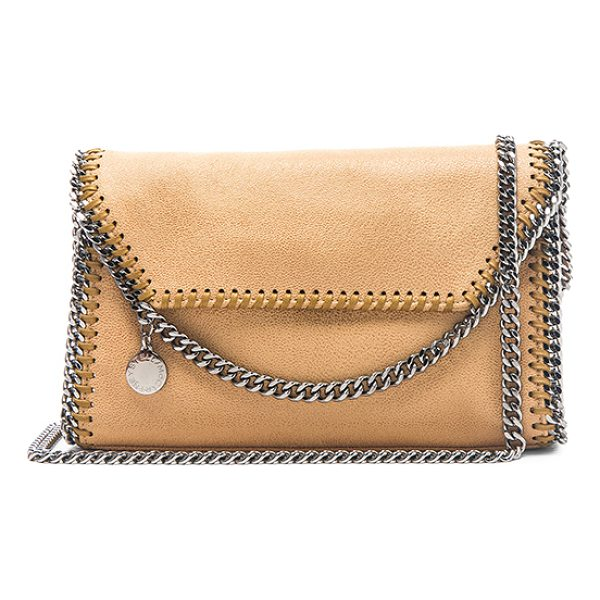 STELLA MCCARTNEY Falabella Mini Shoulder Bag - Shaggy deer fabric with signature poly lining and...